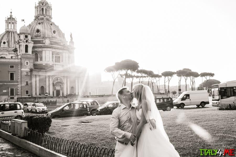Свадебное путешествие в Италию и фотосессия в Риме