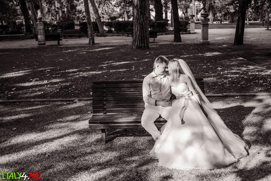 Вилла Боргезе - свадебная фотосессия в Риме