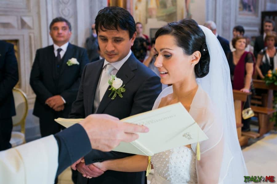Церемония венчания в Италии - клятва верности