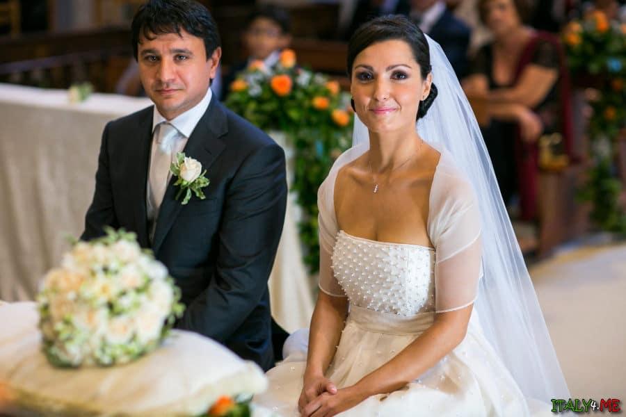 Традиционная итальянская свадьба- жених и невеста