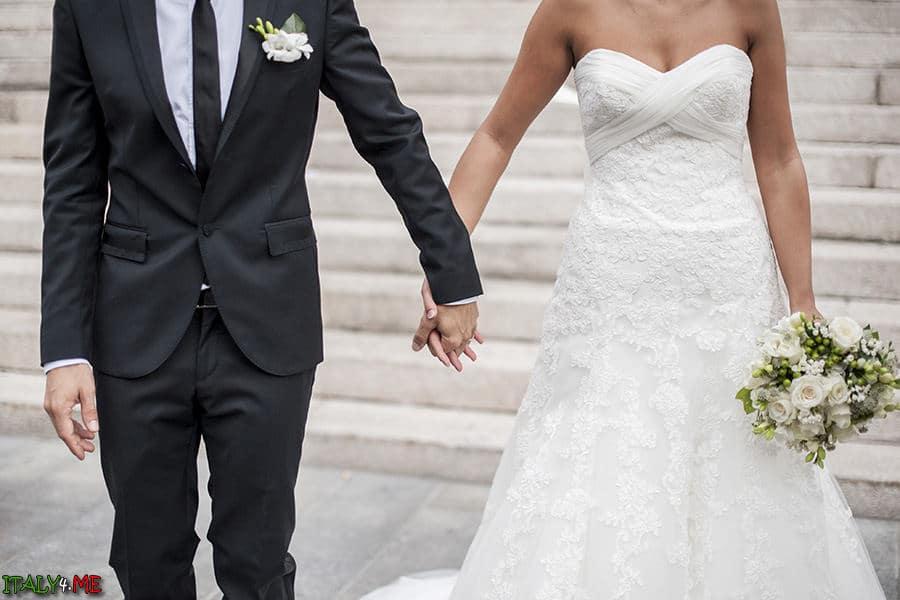 Гламурное свадебное платье невесты Pronovias