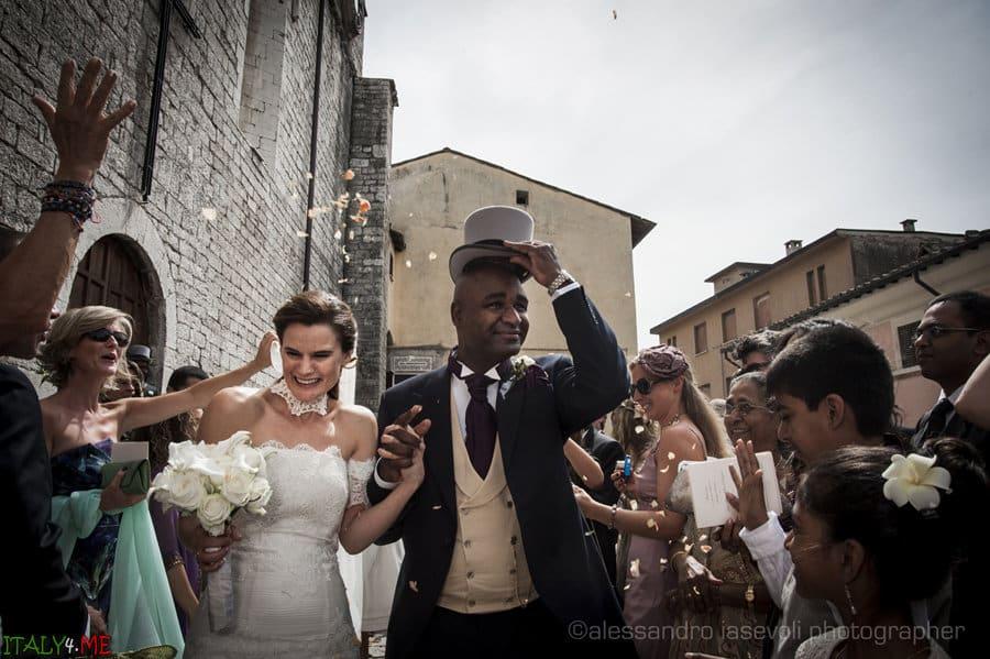 Итальянская свадьба в Умбрии - фотограф  Alessandro Iasevoli