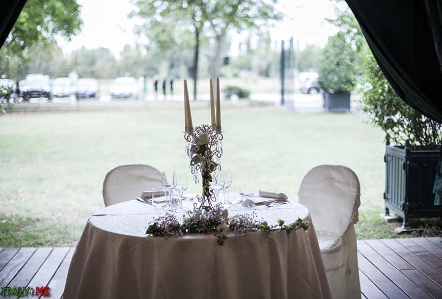Оформление итальянской свадьбы вилла Relais Villa Abbondanzi