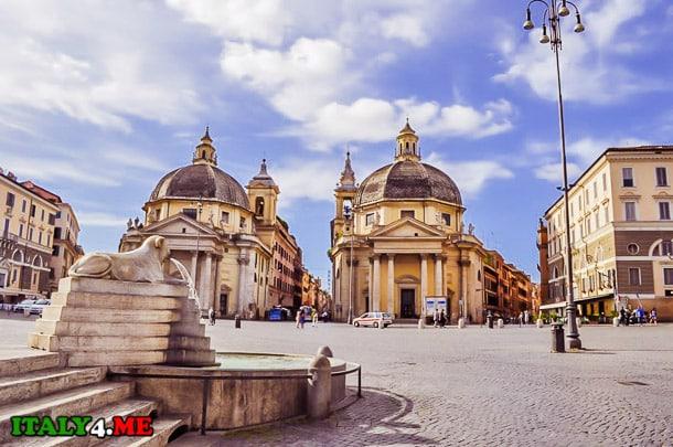 фонтан на Пьяцца дель Пополо в Риме