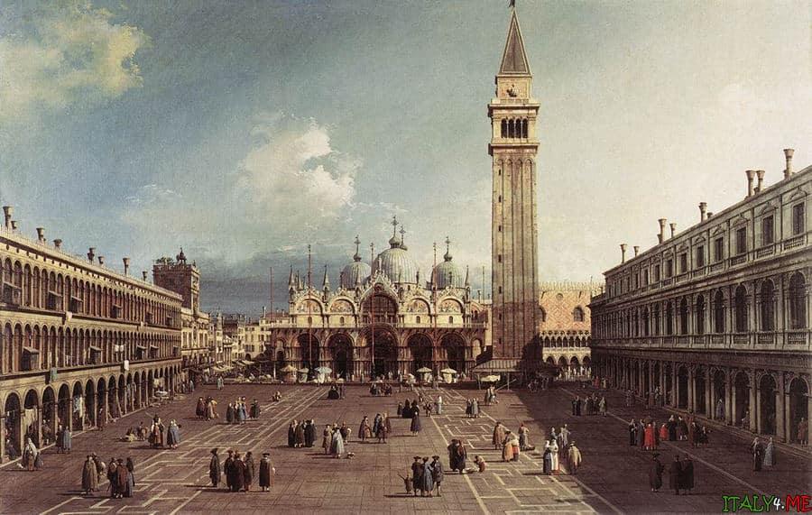 Площадь и собор Сан Марко в Венеции в 18 веке