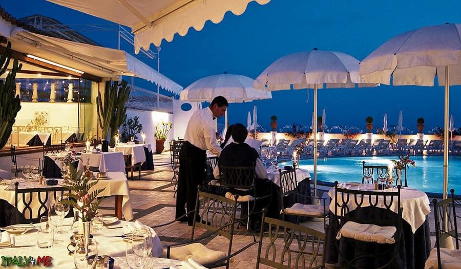 Рестораны на острове Капри Grand Hotel Quisisana