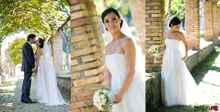 Свадьба в Италии - фотосессия после церемонии венчания