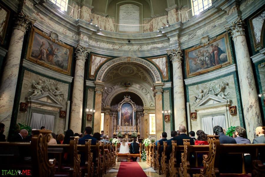 Свадебная церемония в Италии - церковь святой Анны, Ватикан