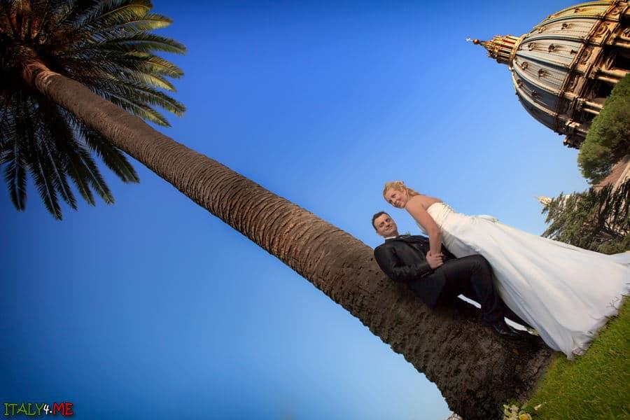 Свадебная фотосессия в Италии - Ватикан
