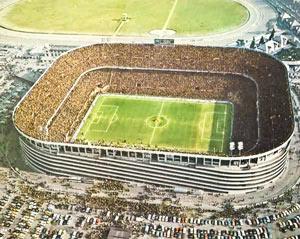 Стадион San Siro в Милане Италия 60-е годы 20 века