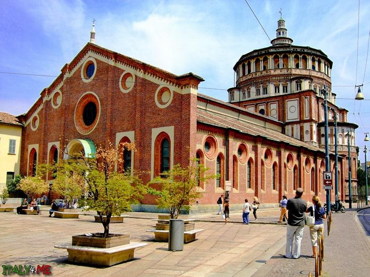 Церковь Санта Мария делле Грацие в Милане