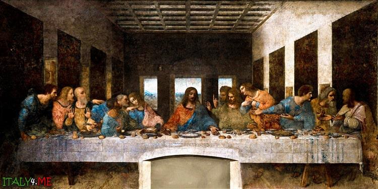 Фреска Тайная Вечере Леонардо да Винчи в Милане