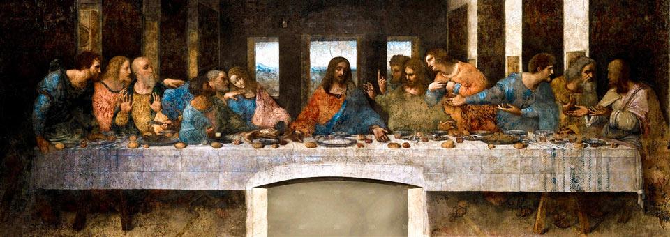 Фреска Тайная Вечеря Леонардо да Винчи в Милане