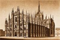 Миланский кафедральный собор Дуомо в начале 16 века