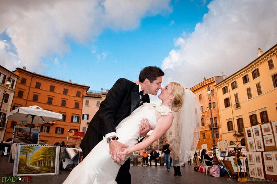 Свадебное фото на Пьяцца Навона