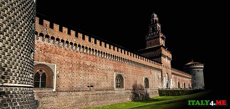 Стены замка Сфорца в Милане