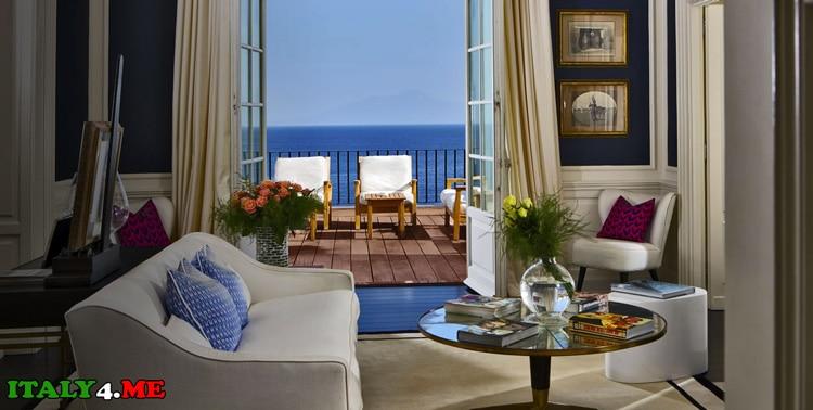Роскошный отель на острове Капри в Италии