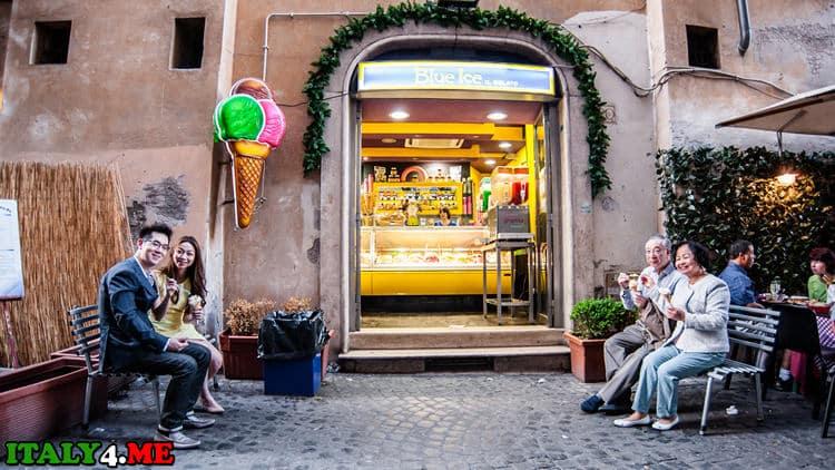 дегустация мороженного в Риме