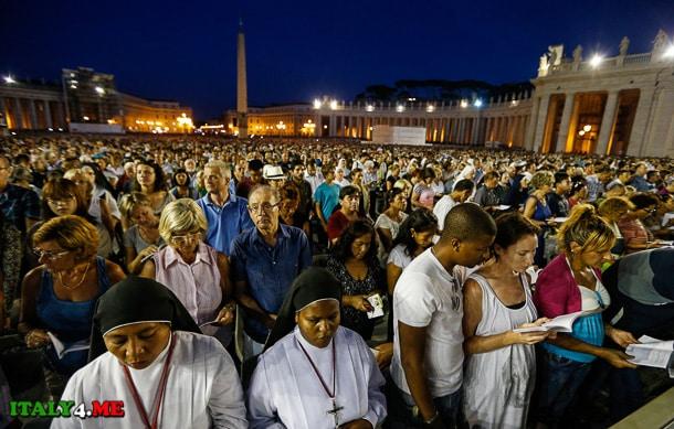 рождество Ватикан площадь святого Петра