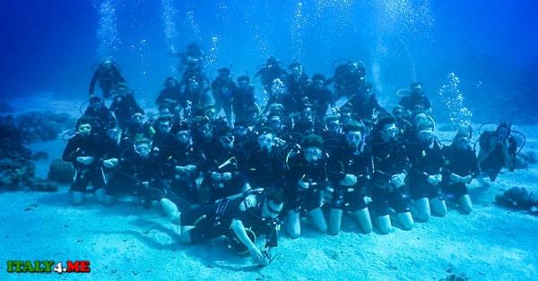 школа дайверов и аквалангистов в Италии