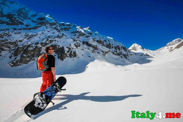 Италия горы сноуборд