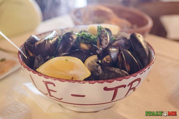 мидии обед ресторан Сицилия