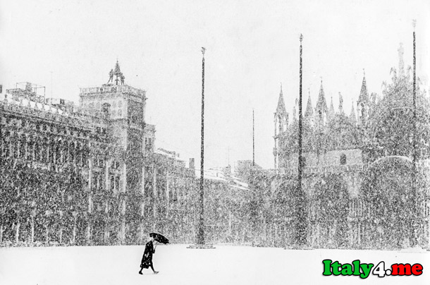снег погода в Италии