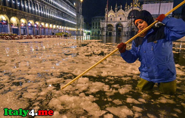 снег Италия погода Венеция