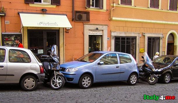 паркинг в Италии Рим