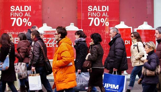 шоппинг скидки Рим январь