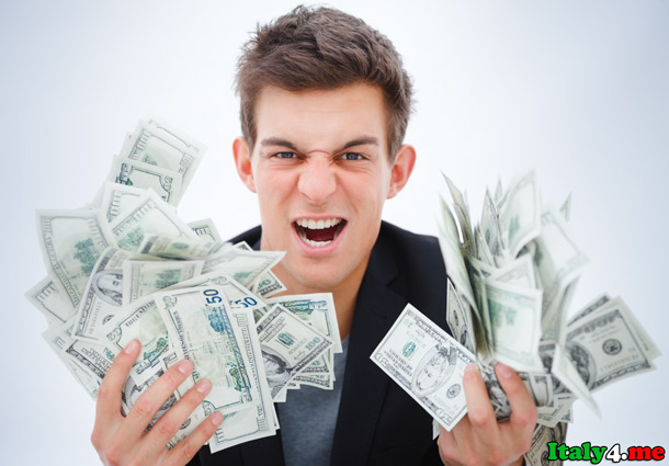 деньги молодой человек