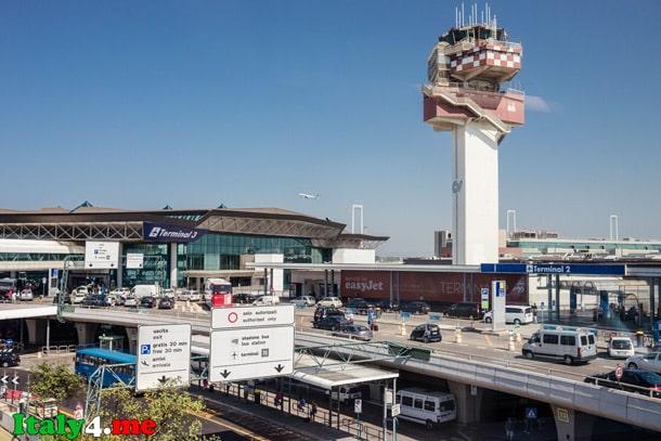 терминал 2 и 3 аэропорт фьюмичино