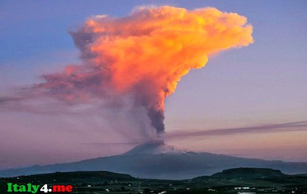 вулкан Сицилия Этна извержение