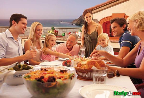 традиционный итальянский ужин