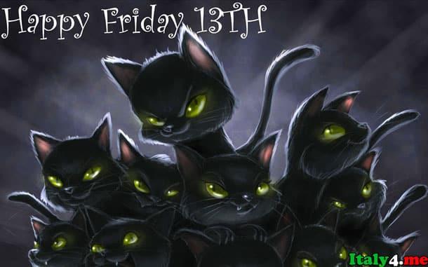 черная кошка пятница тринадцатое – итальянское суеверие