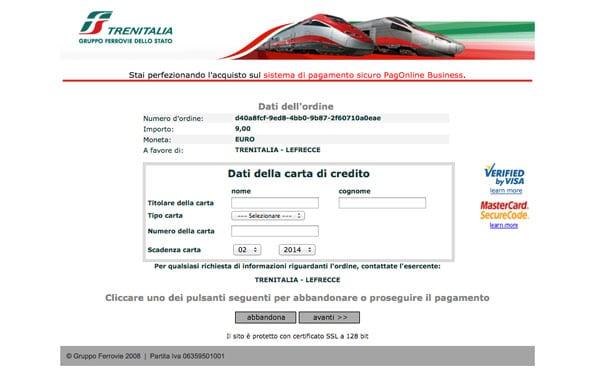 покупка билетов в Италии шаг 7