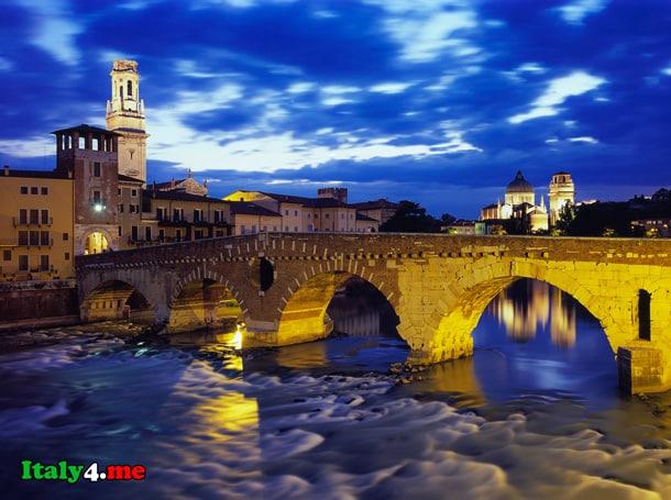 мост Петра в Вероне