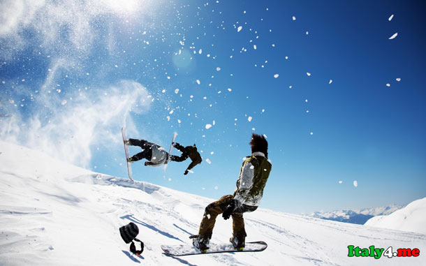 обучение в Италии лыжи сноуборд