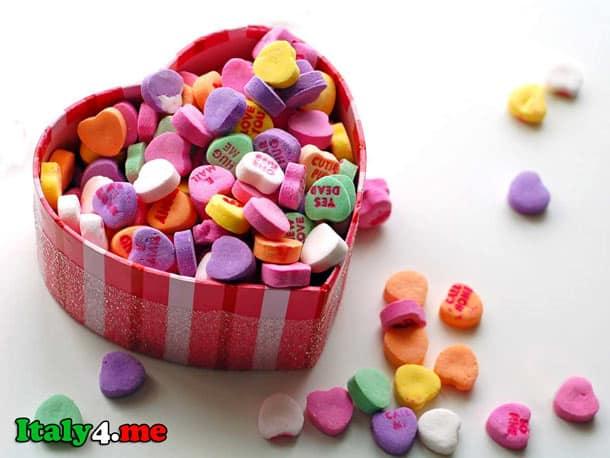 подарки на день святого Валентина в Италии