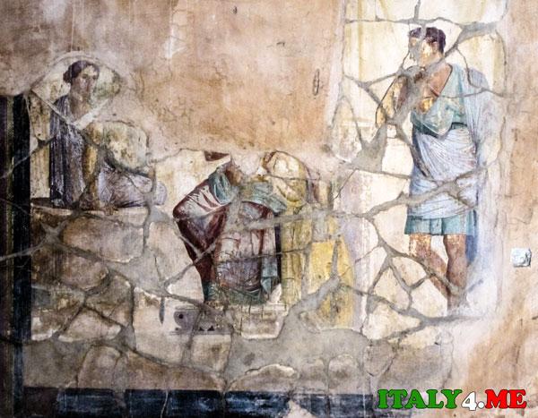 фреска Помпеи Купидон
