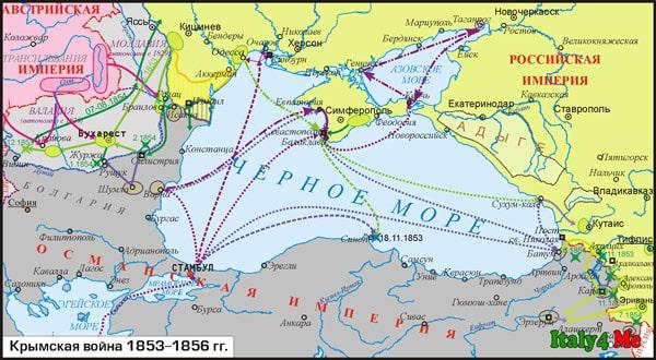 карта военных действий крымская война