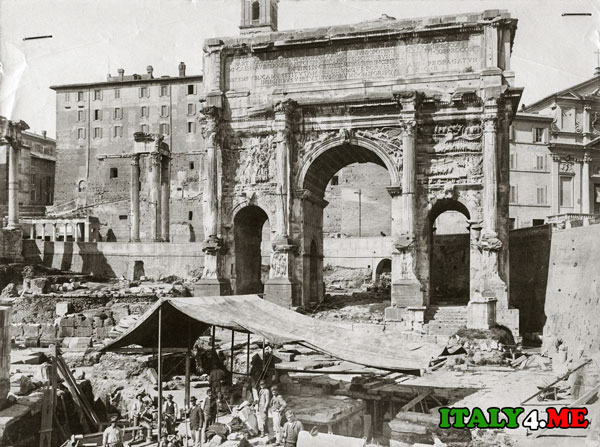 Триумфальная арка Сепитимия Севера Римский Форум