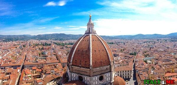 Вид на Флоренцию с колокольни Джотто