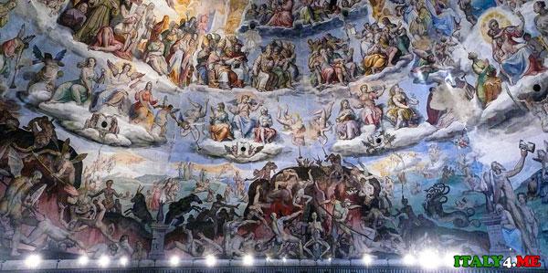 купол картины в соборе Флоренция