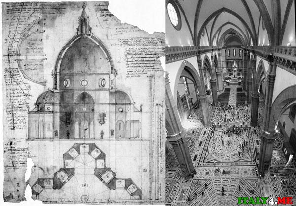 Санта Мария дель Фиоре чертеж