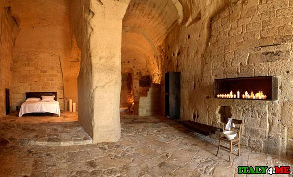Номер отеля Sextantio_Le_Grotte_Della_Civita в пещере