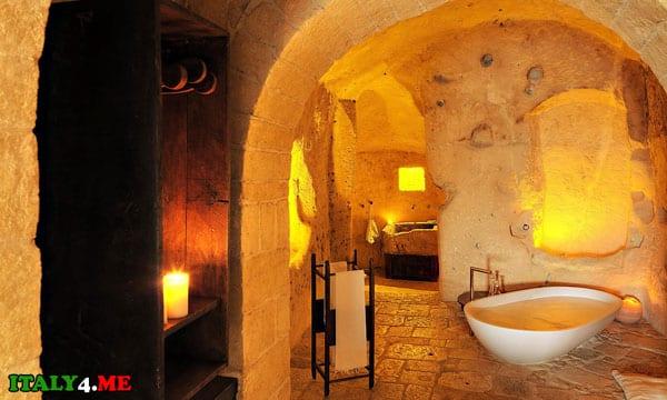 отель в пещере Италия