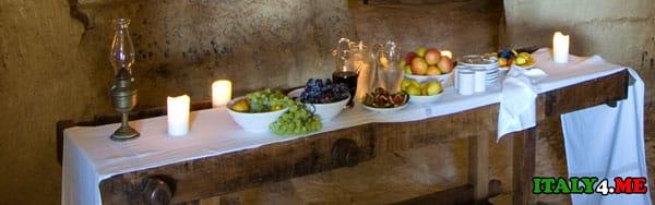 завтрак в отеле Sextantio Le Grotte Della Civita
