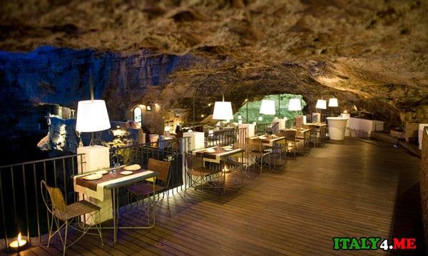 необычный ресторан в Италии