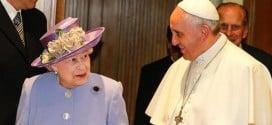 Королева Елизавета и папа римский Франциск